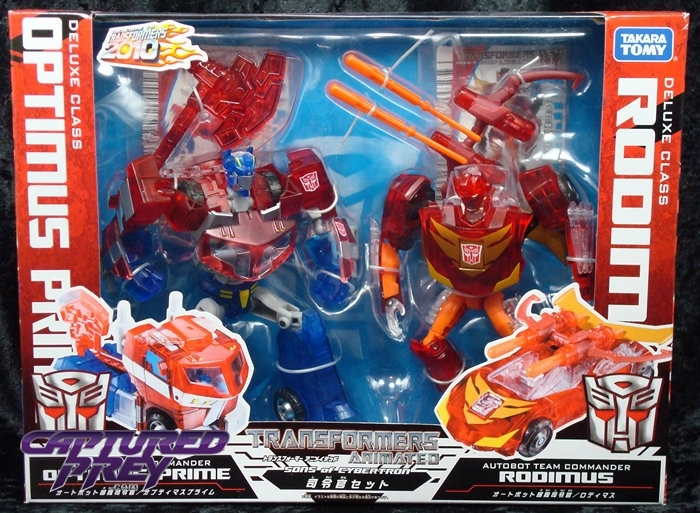 Transformers Animated Sons of Cybertron Optimus Prime vs Rodimus Limited Pack