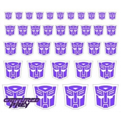 Evil Autobot Emblems - Clear Back