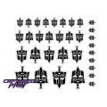 Evil Autobot Secret Police Emblems - Black, White Back