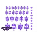Evil Autobot Secret Police Emblems - Purple