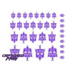 Evil Autobot Secret Police Emblems - Purple
