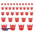Heroic Decepticon Emblems - White Back