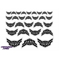 Evil Autobot Elite Guard Emblems - Black