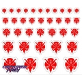 Heroic Predacon Emblems - Classic Red