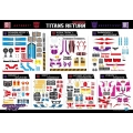 Titans Return Wave 2 Decal Sheet - FREE SHIPPING!